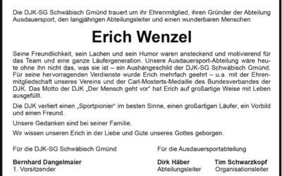 DJK trauert um Erich Wenzeln